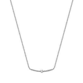 ESPRIT women's chain necklace silver color stone ESNL93455A420