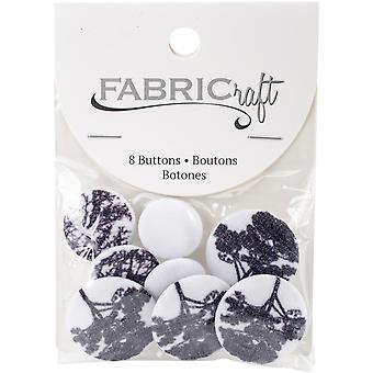 Fabricraft - Fabric Covered Buttons 8/Pkg-Trees