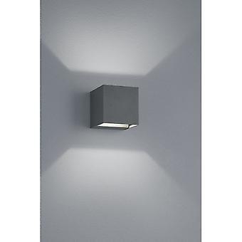 Trio Lighting Adaja Modern Anthracite Diecast Aluminium Wall Lamp