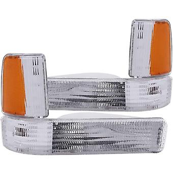 Anzo USA 511047 Dodge Dakota Clear w/Amber Parking Light Assembly Reflectors - (Sold in Pairs)