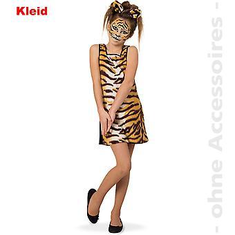 Tiger Kostüm Tigerkleid Wild Cat Kinder Wildkatze Raubkatze Kinderkostüm
