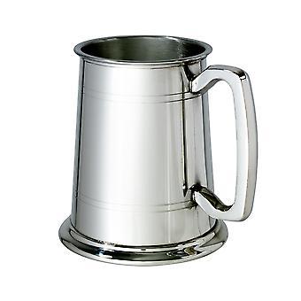 Standard Lined Glass Base 1 Pint Pewter Tankard