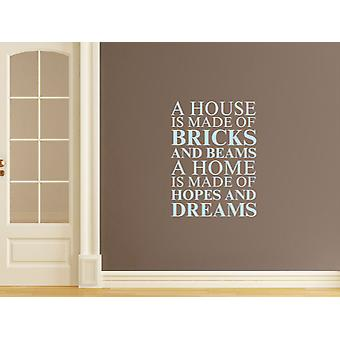 A house is made of Wall Art Sticker - Pastel Blue
