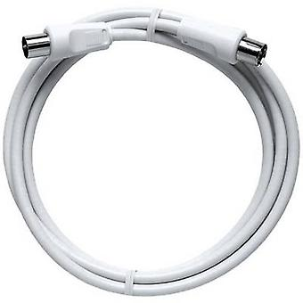 Axing Antennas Cable [1x Belling-Lee/IEC plug 75Ω - 1x Belling-Lee/IEC socket 75Ω] 2.50 m 85 dB White