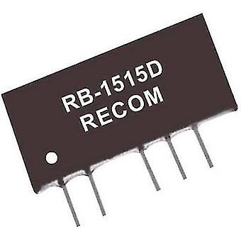RECOM RB-2415D 1 W DC/DC Converter, SIP7 RB-2415D +/- 15 V +/- 33 mA - input/output voltage 1 W