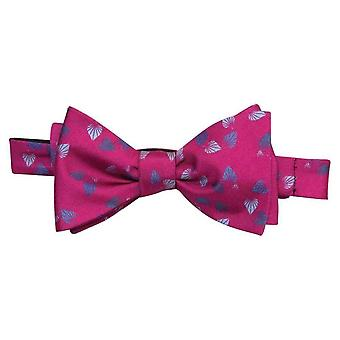 40 Colori Birch Printed Silk Butterfly Bow Tie - Magenta