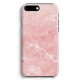 iPhone 8 に加えて、フル印刷ケース (光沢のある) - ピンクの大理石