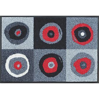 lavar + secar o tapete de chão lavável cinza Sergej