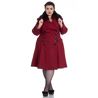 Hell Bunny Red Milan Coat 3XL