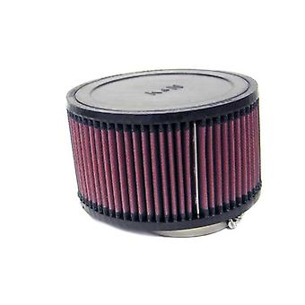 K & N RA-0990 Universal Clamp-On Air Filter: Runde lige; 3 i (76 mm) Flange ID; 4 i (102 mm) højde; 7 i (178 mm) B