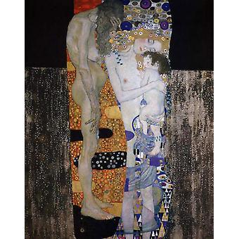 the woman's three walks, Gustav Klimt, 50x40cm