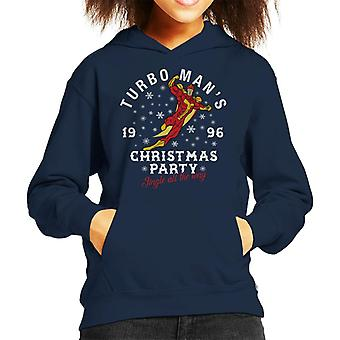 Jingle All The Way Turbomans Christmas Party Kid's Hooded Sweatshirt