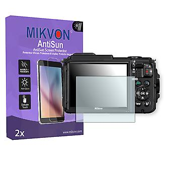 Nikon COOLPIX AW130 Screen Protector - Mikvon AntiSun (Retail Package with accessories)