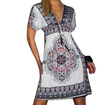 Waooh - Mode - Robe cintrée motif style mandala