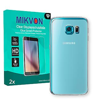 Samsung Galaxy S6 reverse Screen Protector - Mikvon Clear (Retail Package with accessories) (reduced foil)