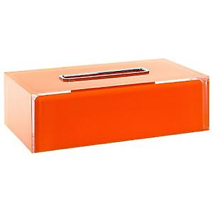 Gedy Rainbow Rectangular Tissue Box Orange RA08 67