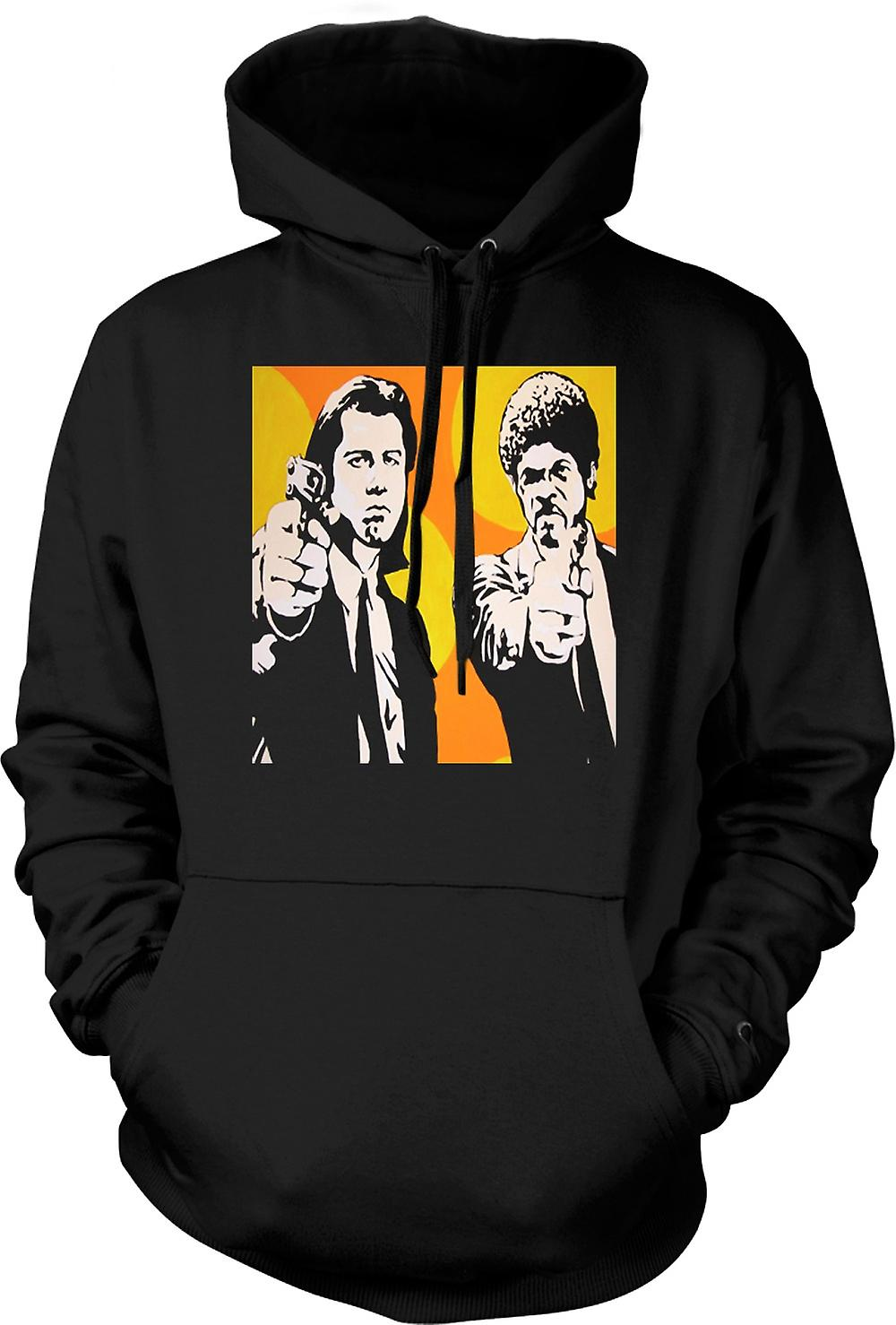 Mens Hoodie - Pulp Fiction - Pop Art - Vincent et Jules
