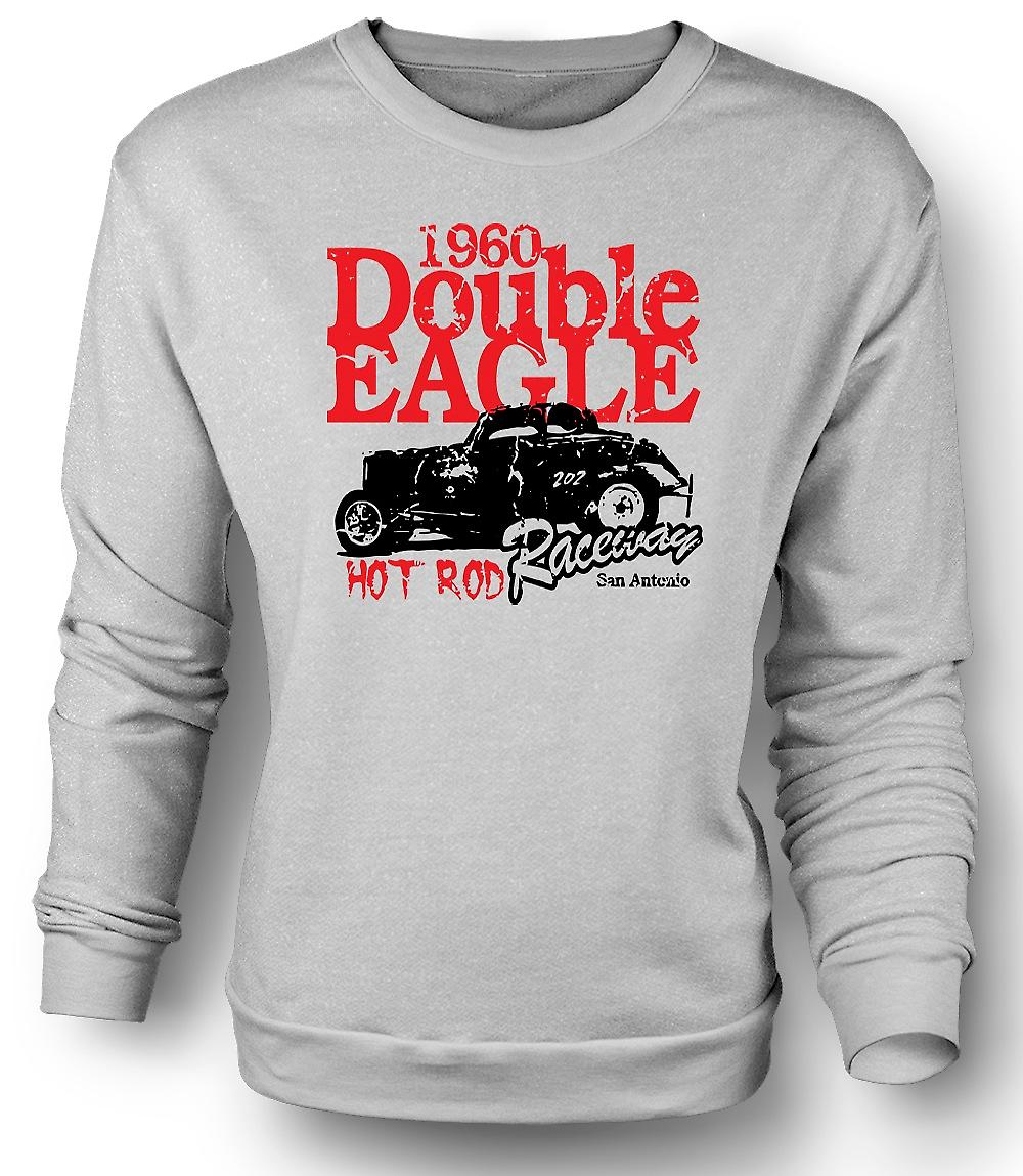 Mens Sweatshirt Hot Rod 1960 Double Eagle Racing