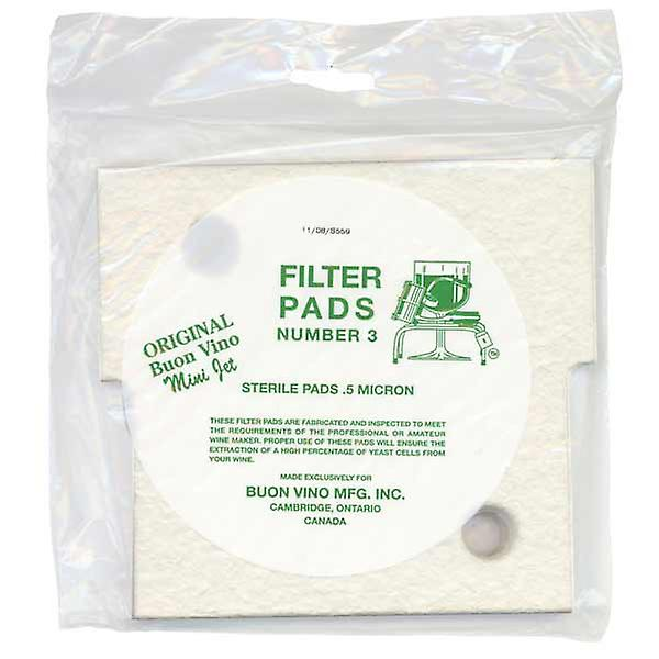 Buon Vino Mini Jet Filter pads - Sterile No 3