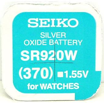 Seiko 370 (sr920w) 1.55V tlenek srebra (0% hg) akumulator Watch Mercury - Made In Japan