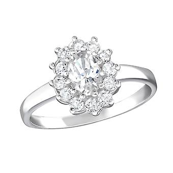 Flor - plata de ley 925 Jewelled anillos - W15455X