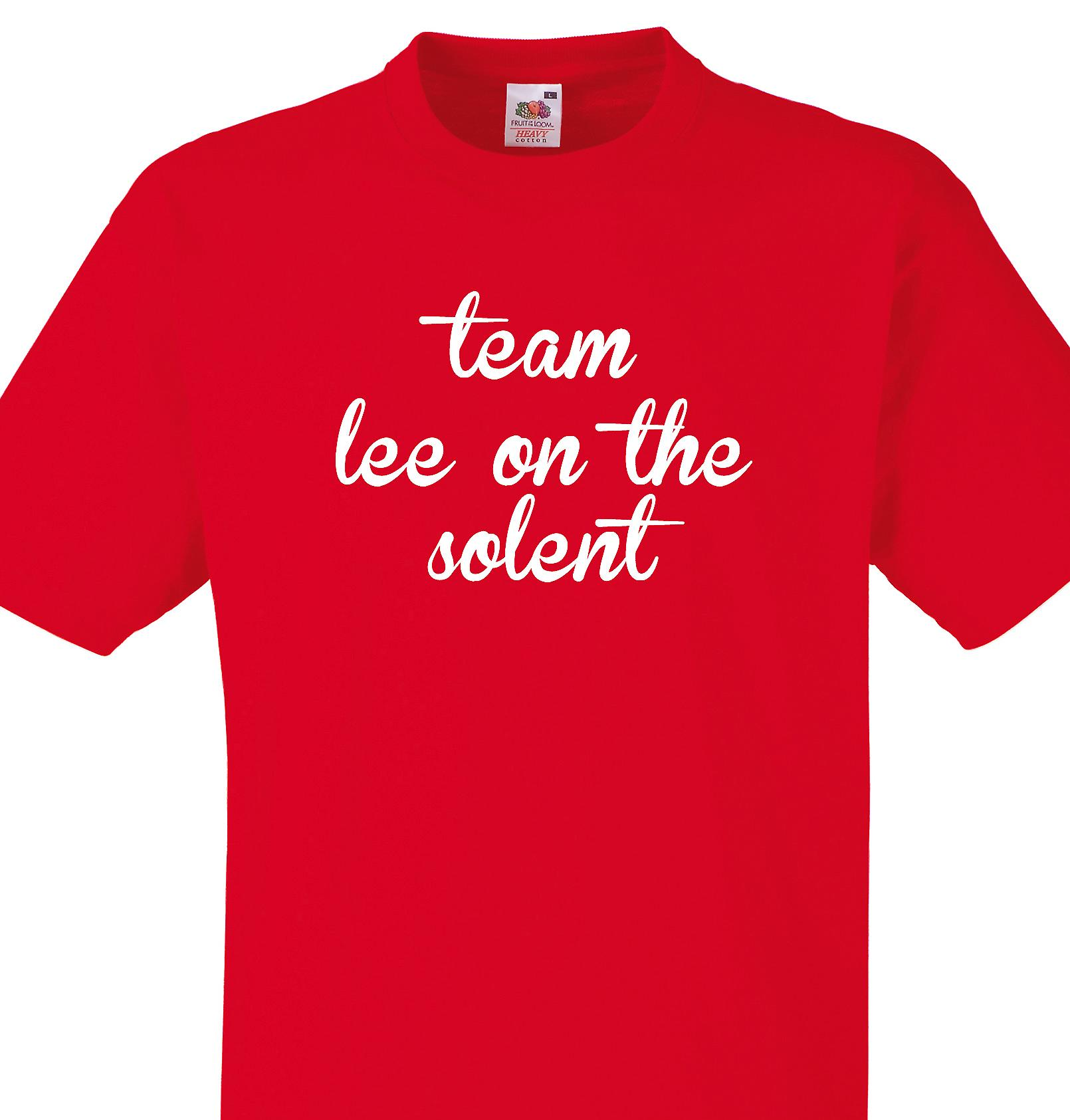 Team Lee on the solent Red T shirt