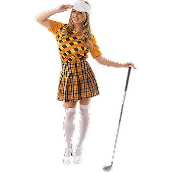 Orion Costumes Womens Orange Pub Golfer Fancy Dress Costume