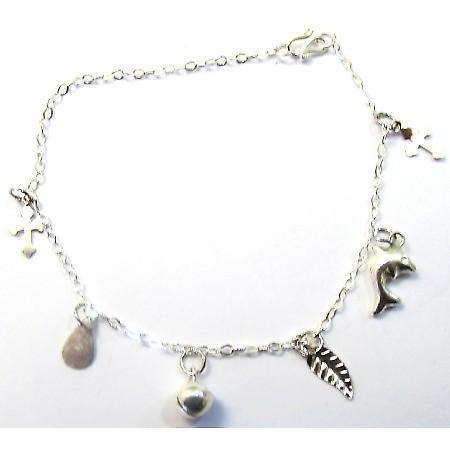 Sterling Silver Dangling Bracelet