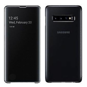 Samsung Flip-Tasche Clear View Cover EF-ZG975CBEGWW für Galaxy S10 Plus G975F 6.4 Zoll Schwarz