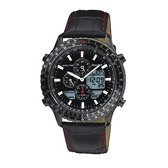 Accurist men's MS1036BB leather strap analogue watch
