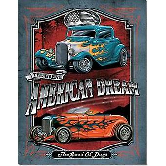 American Dream (Hot Rods) metal sign  (de pt)