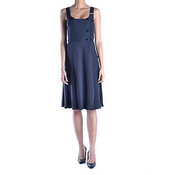 Armani Collezioni svart acetat klänning