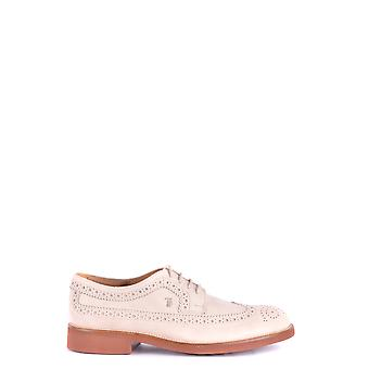 Tod's Grey Leather Lace-up Shoes