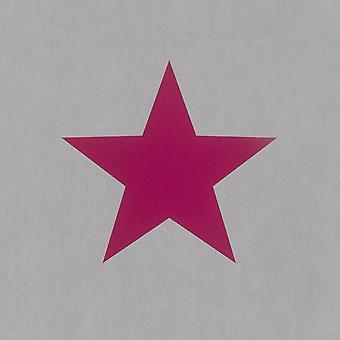 Kids meisjes grote sterren Design behang Kinder slaapkamer tieners grijs roze Rasch