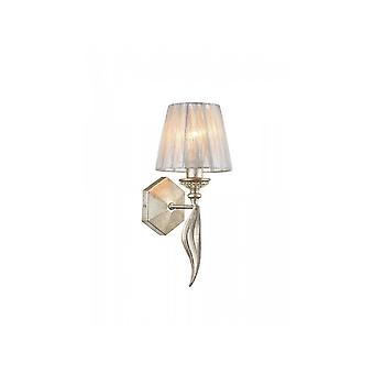 Maytoni Lighting Serena Antique Gold Wall Sconce Light & Shade