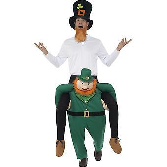 Del leprechaun sul dorso del costume di Paddy sul dorso