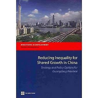Vermindering van de ongelijkheid voor gedeelde groei in China-strategie en beleid O