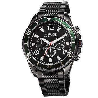 August Steiner Men's AS8119BK Swiss Quartz Multifunction Dial Bracelet Watch