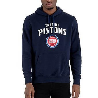 New Era fleece hoody-NBA Detroit Pistons Navy