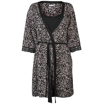 Rock and Rags Womens 2 Piece Gown Set Ladies Scoop Neck