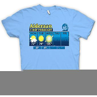Mens T-shirt - Alderaan 5 Day Weather Forecast - Star Wars Inspired