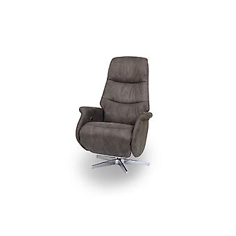 Furnhouse Brown Fabric Recliner Delta, 1 Seater, 90x79x114 cm