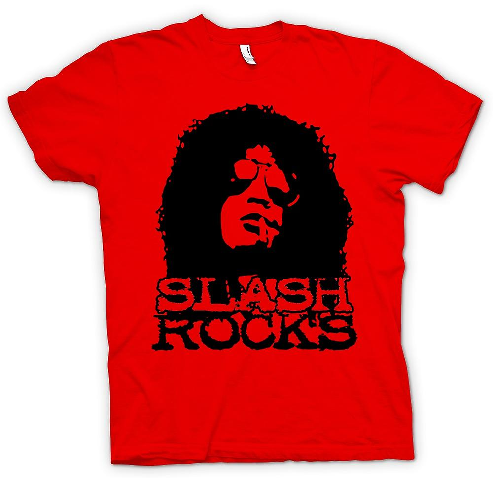 Womens T-shirt - Slash Guitar Rock - Guns n Roses