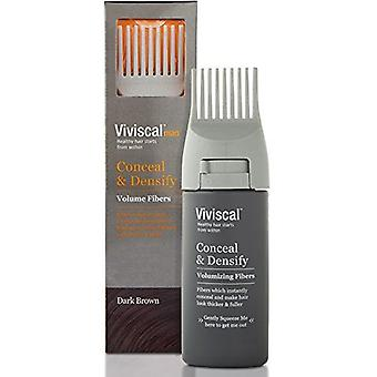 Viviscal Dark Brown Hair Fibers with Applicator for Men