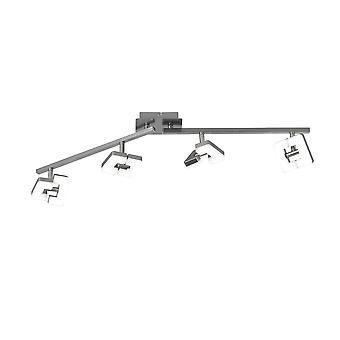 Wofi Zara - LED 4 Light Spotlight Matt Nickel - 9026.04.64.5000