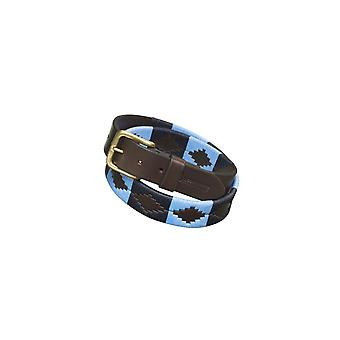 Pampeano Azules Leather Polo Belt Blue/navy