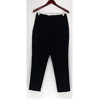 Isaac Mizrahi Live! Pants Regular 24/7 Stretch Ankle Pants Black A259670