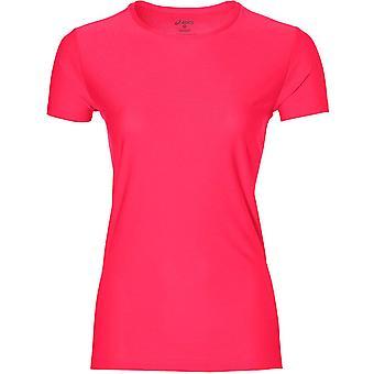 Asics Short Sleeve Womens Running Exercise Fitness Shirt Top