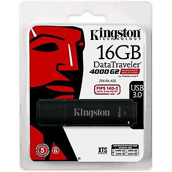 Kingston datatraveler 4000 g2 usb stick 3.0 16gb protección con contraseña color negro