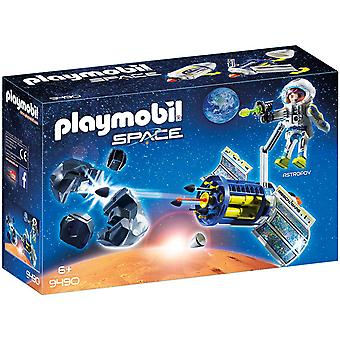 Playmobil 9490 Space Satellite Meteoroid Laser With Working Cannon Playset